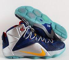 Nike Men Lebron XII 12 iD Blue Grey Silver SZ 14 ( 728709-981 )