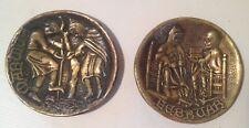 Deux (2) Coupelles en bronze MAX LE VERRIER mois Février Mars