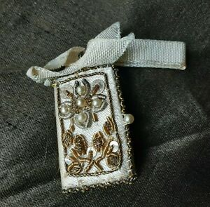 GORGEOUS RARE MINIATURE ANTIQUE SPANISH PRAYER BOOK EMBRODERY DOLL S HOUSE C1900