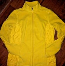 TALBOT'S YELLOW/GOLD FLEECE JACKET WITH QUILTING, FULL ZIP, MISSES SIZE SMALL