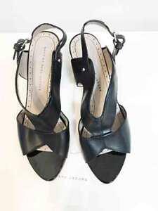 Designer Marc Jacobs Black Leather Size 39 Worn Once Women's Sandals