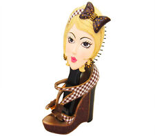 Trendy Girls Hair Brush and High Heel Holder Gift Set - Blonde - Holiday Gift