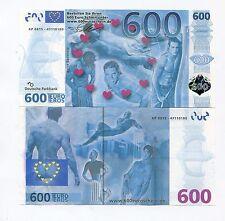 Europe 600 Eros Euro Sex Money - Novelty Fantasy Note - Nice Artwork