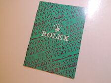 ♛ Authentic R0LEX ♛ 90's Translation Service Watch Manuals & Guides Booklet