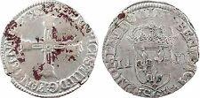 Henri IV, quart d'écu, 1607 ou 1609 St Lô - 61
