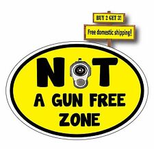 Not a Gun Free Zone, Protected from ISIS or other threats, Decal Sticker Barrel