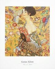Gustav Klimt Frau mit Fächer Poster Kunstdruck Bild 40x50cm