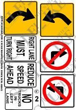 SCALELIKE INDUSTRIES G-ROADWAY SIGNS 2 (GRS-2) PRINTED ON PLASTIC FACTORY NEW