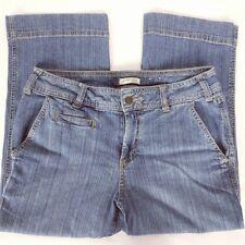 St John's Bay Women's Capri Jeans Size 8 Stretch Medium Wash Denim