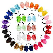5pcs/set Ribbon Bows With Elastic Band Hairband for Girls Kids Hair Accessor Ep