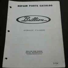 Brillion Repair Parts Catalog Manual Hydraulic Cylinders Rebuild Farm Equipment