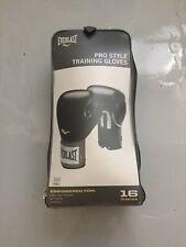 Everlast Pro Style Training Boxing Gloves Black 16 Oz Boxing
