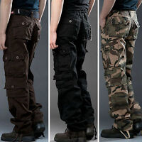 Military Men's Cotton Cargo Pants Combat Camouflage Camo Army Style Trousers US