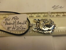 Wolf Head Neckless. Pocket watch chain fob/pendant/charm