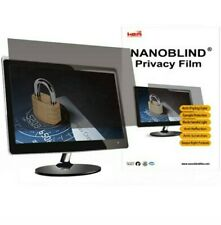 "NanoBlind Privacy Screen Film Filter Crystal Clear Matte Black 19"" W Protector"