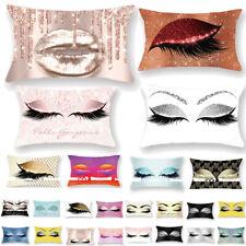 Eyelash Out Soft Velvet Cushion Cover Case 30x50cm Marble Sofa Pillow Covers