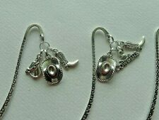LOT OF 3 WESTERN COWBOY COWGIRL HAT BOOT TIBETAN ANTIQUE SILVER BOOKMARKS