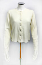 Women's Abercrombie and Fitch Sweater Cardigan - Cream - Small (TP08)