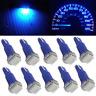10pcs T5 70 73 74 Wedge Ultra Blue 1-SMD LED Dashboard Lights Bulb Gauge Cluster