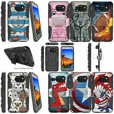 For Samsung Galaxy S7 Active Dual Layer Stand Holster Clip Case - Animal Designs