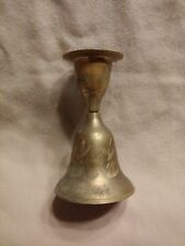 Vintage Brass Bell with Candle Holder Top ~ Very Unique! *
