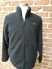 North Face Mens  XL Dunraven Sherpa Fleece Full Zip Jacket.  Black.