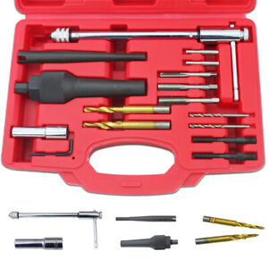 Glühkerzen Wechsel Werkzeug Reparatur Ausbohr Wechsel 16tlg. M8 M10 KFZ