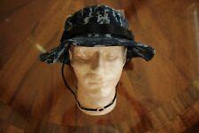 USN US NAVY NWU TYPE BLUE TWILL CAMOFLAGE COMBAT FLOPPY HAT BOONIE CAP SZ 7 3/4
