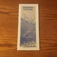 1968 Grand Teton Natl Park Wyoming National Park Service Vintage Brochure w/Map