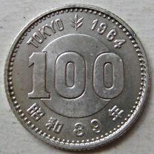 JAPAN 1964 (SHOWA 39) XVIII OLYMPICS SILVER 100 YEN COIN (Y# 79)