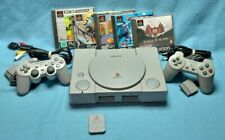 Playstation 1 PS1 console SCPH-7502 PAL 2 controllers 5 games