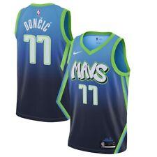 Dallas Mavericks #77 Luka Doncic City version Basketball Jersey Blue