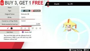 ✨ Shiny Jirachi ✨ Pokemon Sword and Shield Perfect IV🚀Fast Delivery🚀