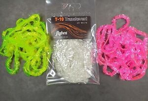 FLYBOX Translucent T10 10mm Blob Fritz.  CLEARANCE SALE