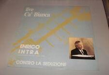 ENRICO INTRA - CONTRO LA SEDUZIONE - LP 1986 MADE IN ITALY - Monografia Sonora -