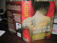 The Girl With The Dragon Tattoo 1st edition 4th print Stieg Larsson hardcover