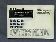Kawasaki ZX 600 636 B1 K1 Factory Owners Manual Mint ZX600RR ZX636 03+