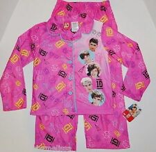 ONE DIRECTION 1D Pink PAJAMAS size 10/12 NeW Pjs Set L/S BUTTON Shirt Top Pants