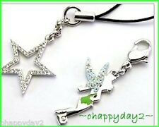 signed Swarovski~Disney~TINKER BELL charm~& Star~2 pc accessory ~$85 ~new~ cute!
