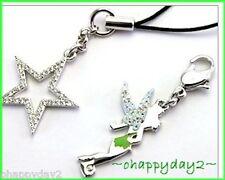 signed Swarovski~Disney~TINKER BELL charm~& Star~2 pc accessory ~$85 ~new~ cute!