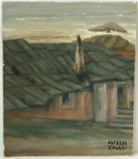 ALFREDO ZALCE 1908-2003 MEXICO HOUSE BY THE SEA EXPRESSIONIST MURALIST