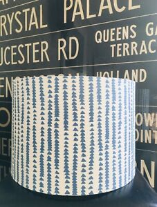 MADE TO ORDER LAMPSHADE JOHN LEWIS XANDER NORDIC BLUE & WHITE FABRIC ALSO GREY