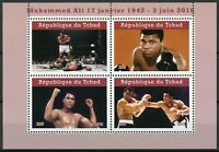 Chad 2019 MNH Muhammad Ali 4v M/S II Famous People Boxing Sports Stamps