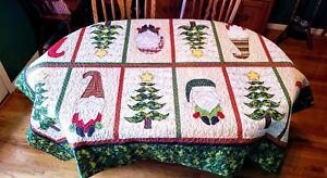 Quilt PATTERN, Christmas, Santa, Gnomes, Table Topper, Nisse, Santa Elf, Tree