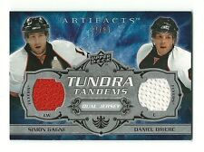 Simon Gagne Daniel Briere 2008-09 Artifacts Tundra Tandems Blu Dual Jersey 37/50