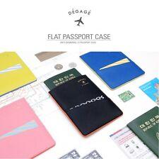 Leather Passport Organiser Holder Travel Wallet Korea