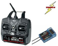 Hitec Optic 5 Channel 2.4 GHz Transmitter + 6 Channel Minima Receiver Mode 2 -UK