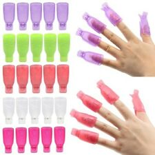 10Pcs Plastic Nail Art Soak Off Cap Clip Uv Gel Polish Remover Wrap Tool Diy Lk3