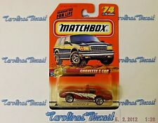 "VHTF! 1998 Matchbox #74 Series 10-Street Cruisers (red) ""CORVETTE T-TOP"" ~ S4"