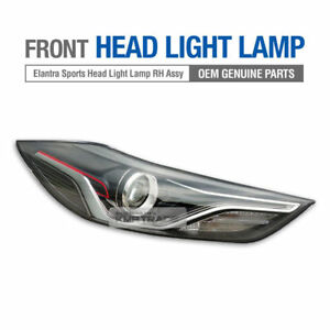 OEM HID Front Head Light Lamp DRL RH Assembly for HYUNDAI 2017-18 Elantra Sports